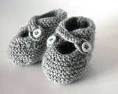 Gray Baby Booties