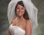 1 Layer Bubble Veil 1 Layer Bridal Veil Waist Length 30 Inches 1 Tier Tulle Veil Diamond White Veils Light Ivory Veils Wedding Veils