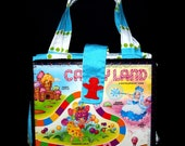 Recycled Game Board Purse - Candyland
