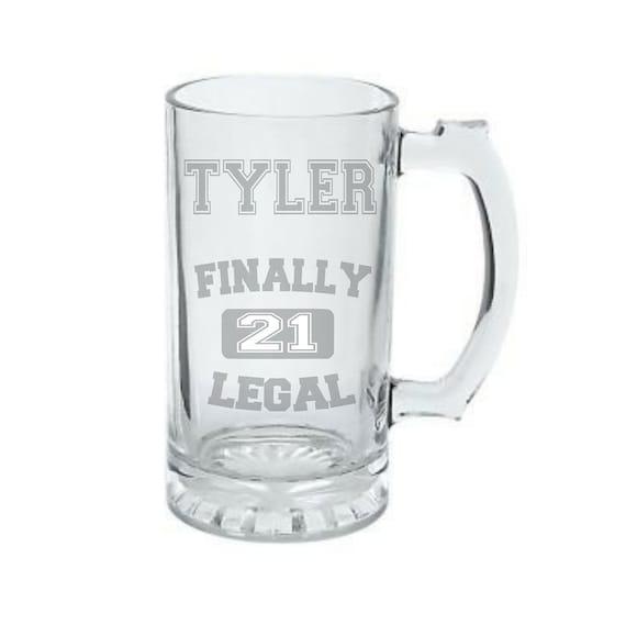 21st Birthday Beer Mug Deep Etched Birthday By