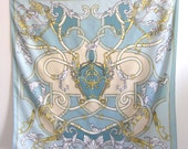 Etruscan Vintage Silk Scarf Ornate Design SALE was 18 now 14