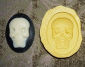 Flexible Mold SUGAR SKULL Cameo Cabochon Day Of The Dead Skeleton Head