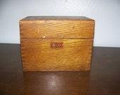 Vintage Weiss Receipe Box-Wood