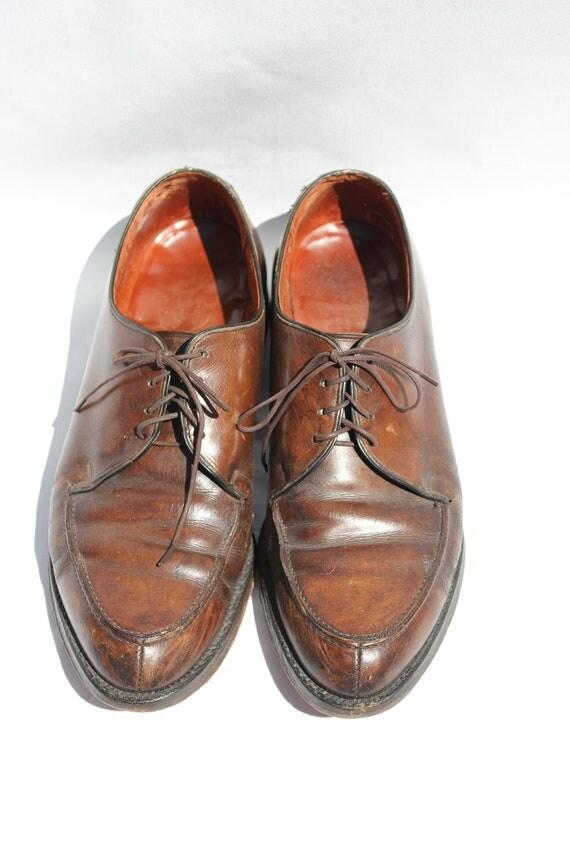 Vintage Brown Leather Nunn Bush Dress Shoes - Mens Size 9