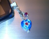 Millefiori Heart Cell Phone Dust Plug