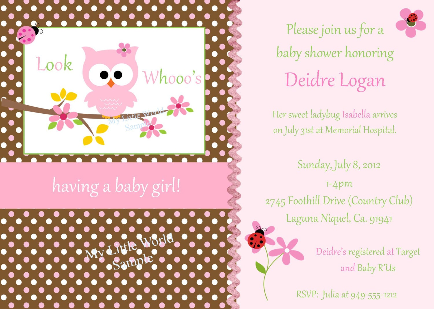 Baby Shower Owl Invitations as best invitation sample