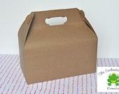 15 Brown Kraft Gable Box - Favor Box, Lunch Box, Picnic Box