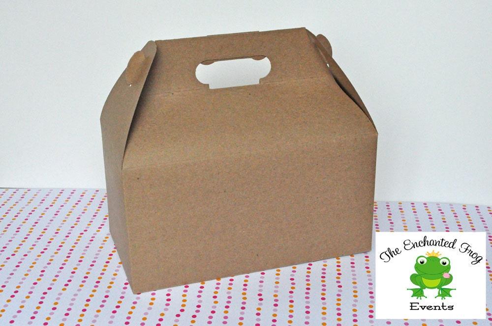 12 Brown Kraft Gable Box Favor Box Lunch Box Picnic Box