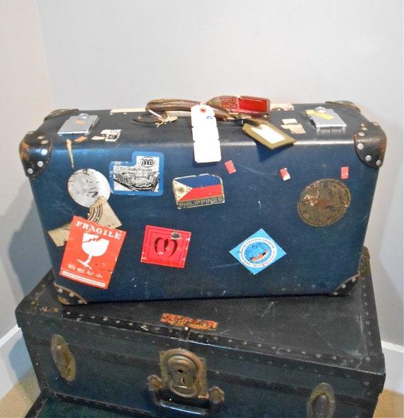 R E S E R V E D - Unique Vintage Suitcase