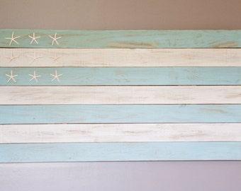 Beach House Nautical American Flag