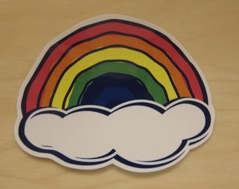 Rainbow Sticker, 100% Waterproof Vinyl Sticker, Pop Culture Sticker