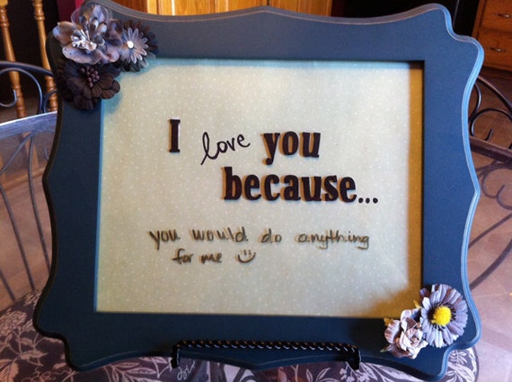 I Love You Frame - Dark Blue