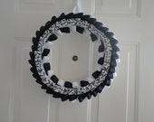 Black & White Ribbon Wreath