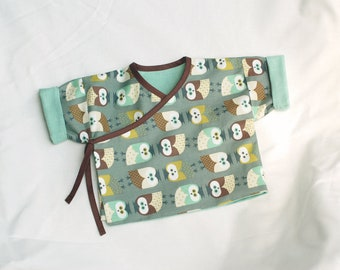 Baby Kimono Jacket wiht owls