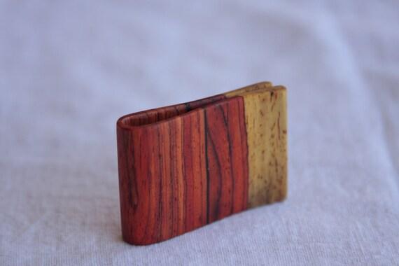 Nicaraguan hardwood money clip