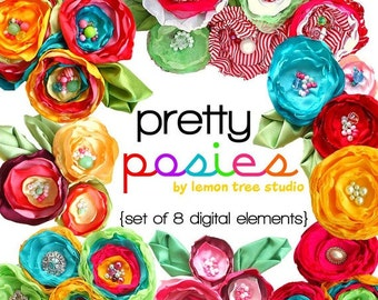 Digital Clip Art -- Pretty Posies Collection (Instant Download)