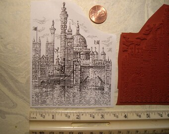 London scene montage  City  rubber stamp un-mounted scrapbooking rubber stamping