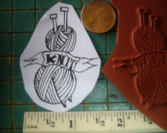 yarn & knitting   Rubber stamp un-mounted scrapbooking rubber stamping journal