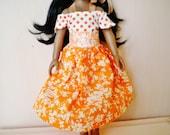 Bohemian Orange Corolle Les Cheries Dress