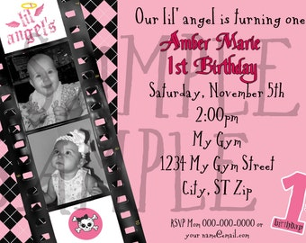 DIY Printable Lil Angels Inspired Birthday  Invitation
