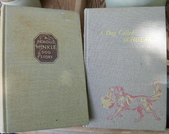 Dog Books Pair Dusty & A Dog Named Scholar Instant Vintage Childrens Canine Library Free Shipping