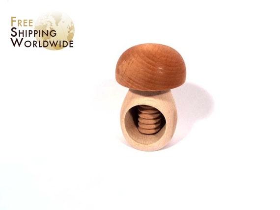 Wooden Nutcracker Mashroom from Beech wood