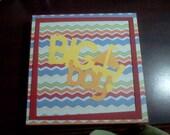 Premade 8x8 Boy Chipboard Album with Box