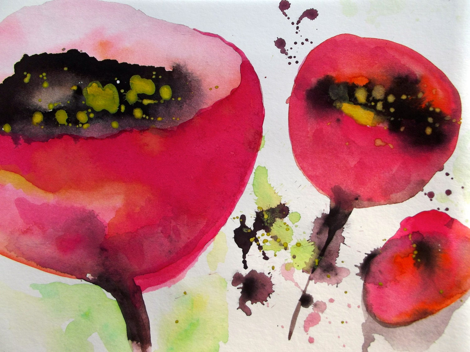 Abstract Watercolor Paintings of Flowers Abstract Watercolor Paintings
