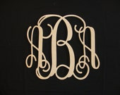 30 INCH Vine connected monogram letter, Wooden wall letter, wedding, unfinished, home decor, wedding decor, wood letters