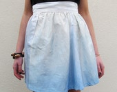 Blue Dip Dye Ombré Silk Skirt