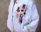 1980s era fancy windbreaker jacket RESERVED FOR SHERI