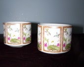 Japanese Tea Cups - Set of (2)  Toyo Ming Lotus