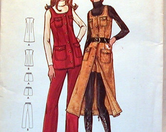 Vintage Butterick Pattern 6378 Sz. 12 NOS Miss Petite and Misses Jumper, Tunic, Pants and Shorts