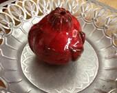 Rosh Hashana Decor.  A Decorative Fragrant Ceramic Pomegranate.  Perfectly fits as a kitchen art or garden art decor.