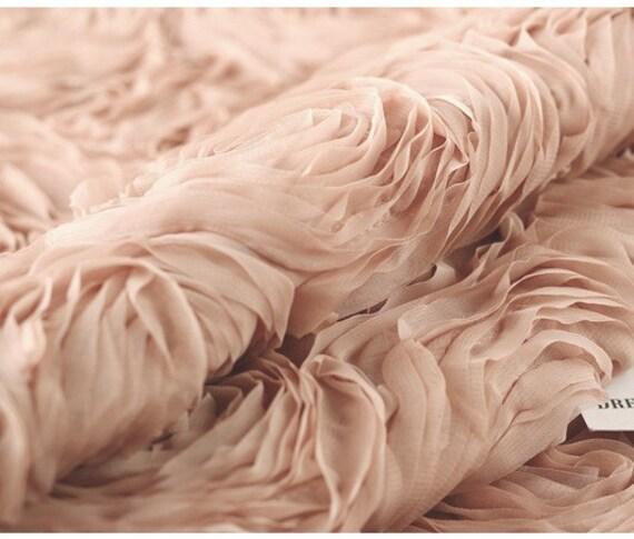 Blush Pink Chiffon Rosette Fabrics Baby Photography Backdrop