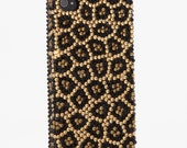 Luxury Swarovski Crystal Diamond Leopard Design Bling Case Cover for iphone 4 4s Leopard bling iphone 4 4s case