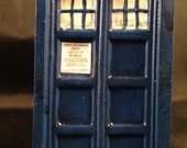 Handcrafted Resin Police Box - Painted Version