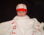 Baseball Blanket and Hat