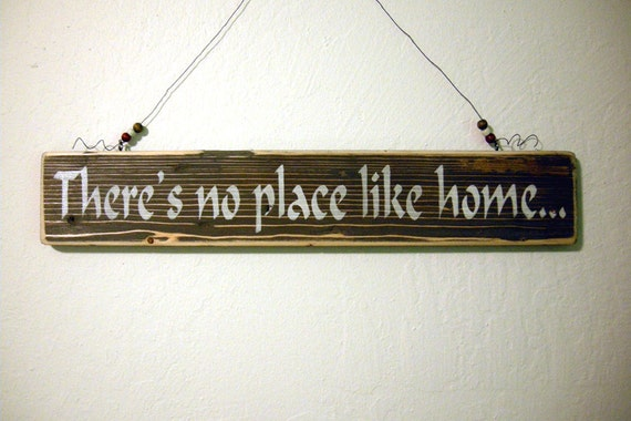 Painted Wood Sign There's No Place Like Home by ...