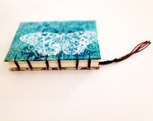 Handmade Notebook Journal, Sketchbooks, Photo album, Coptic stitched, Diary, Books, Scrapbook, Recycled paper, Vintage book - Blue butterfly