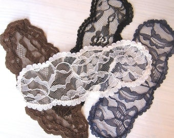 Gray, Black, Navy, Ivory, Brown Lace Head Piece