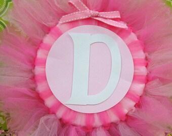 Handmade Ballerina Tulle Name Banner