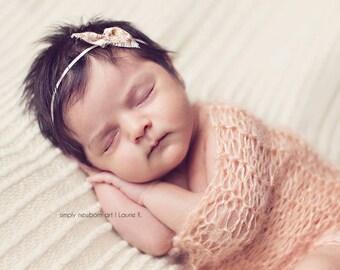 Baby headbands Cream headbands fabric bow headband Floral Beige Headband Photography Prop