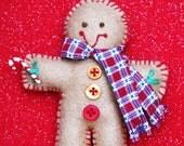 Plush Gingerbread Man Ornament