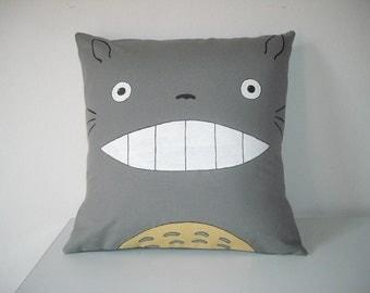 My neighbor totoro, Totoro pillow cover, totoro cushion cover, totoro cushion, totoro pillow 16x16 inches, 40x40 cm