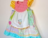 Tattered Alice......Lorina Flutter Apron Shabby Chic Vintage Dress sz 4