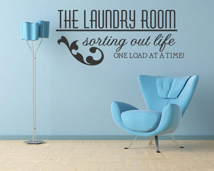 Laundry Room Wall Decor Stickers : The laundry room vinyl wall decal decor by wallstickersdecals