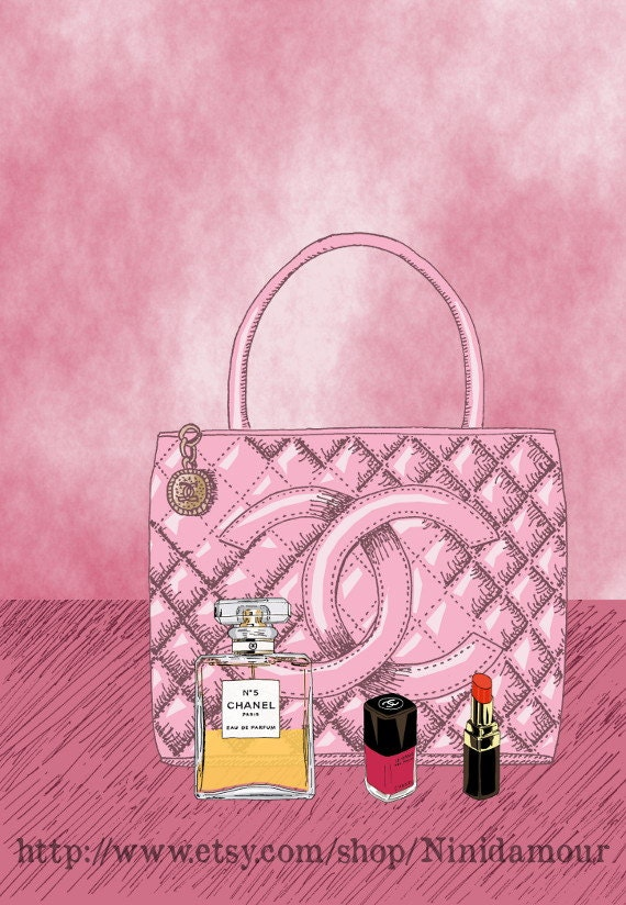 items similar to chanel bag red lipstick perfume chanel