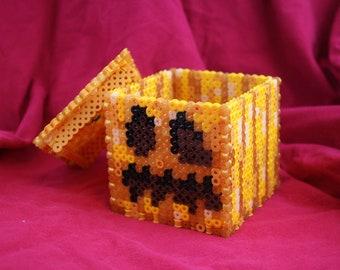How to Make a Light-up Perler Bead Pumpkin Inspired by Minecraft  (Digital Download)
