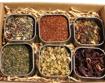 Herbal Tea Lovers Sampler Collection - Six Fresh Unique Herbal Tea's